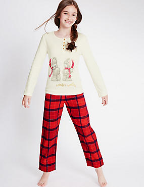 Pure Cotton Long Sleeve Winter Pyjamas (1-16 Years)