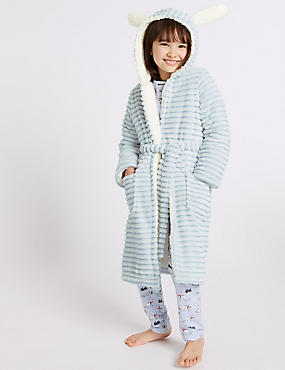 Hooded Bunny Gowns (1-16 Years), BLUE, catlanding