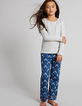 Pure Cotton Bird Print Pyjamas (1-16 Years)