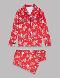 Pure Cotton All Over Print Pyjamas (1-16 Years)