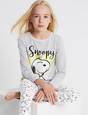 Cotton Rich Snoopy™ Pyjamas (6-16 Years)