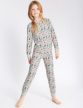 Cotton Leopard Print Long Sleeve Pyjamas with Stretch (1-16 Years)