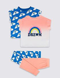 2 Pack Dream Rainbow Pyjamas (3-16 Years)