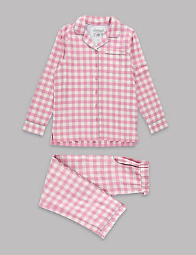 Pure Cotton Woven Pyjamas (1-16 Years)