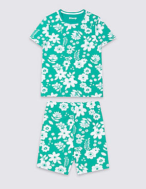 Floral Print Short Pyjamas (1-16 Years)