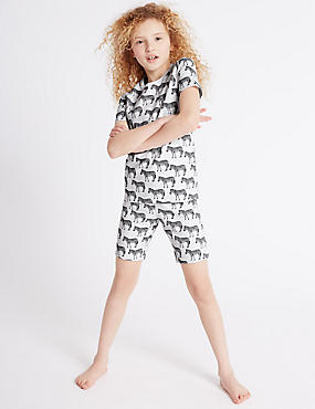 Zebra Print Short Pyjamas (1-16 Years)