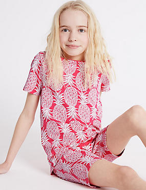 Pineapple Print Short Pyjamas (1-16 Years)