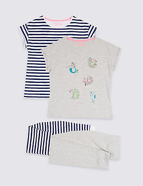 2 Pack Assorted Pyjamas (3-16 Years)
