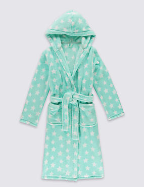 Star Print Dressing Gown (1- 16 Years)