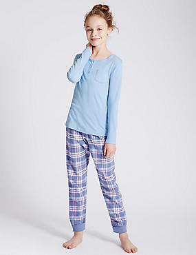 Pure Cotton Long Sleeve Pyjamas (6-16 Years)