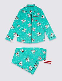 Cotton Unicorn Print Pyjamas (1-16 Years)