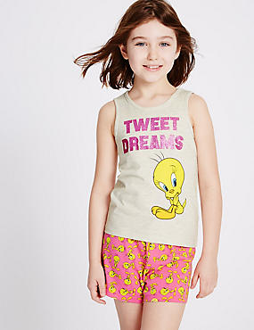 Tweety Short Pyjamas (6-16 Years)