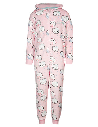 Hello Kitty Hooded Onesie (6-16 Years) Clothing