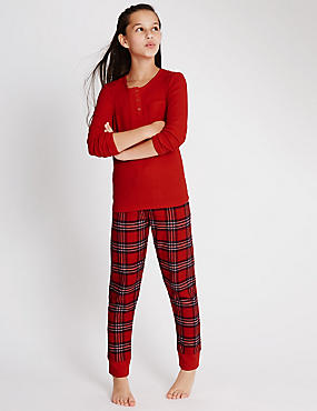 Cotton Rich Red Checked Pyjamas (6-16 Years)