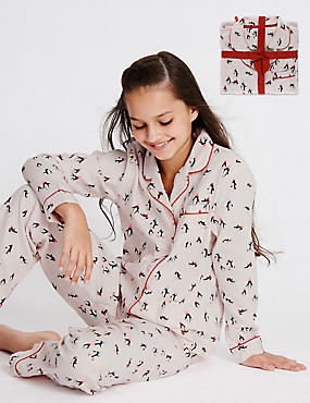 Pure Cotton Penguin Pyjamas (1-14 Years)
