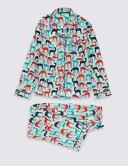Pure Cotton Bailed Deer Pyjamas (1-16 Years)