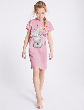 Sparkle Nightdress (3-16 Years), PINK MIX, catlanding