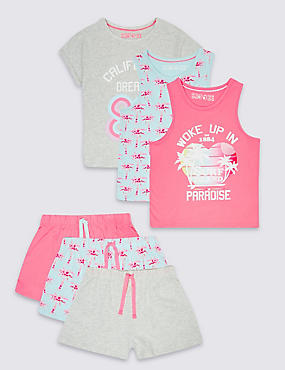 3 Pack Printed Short Pyjamas (3-14 Years)