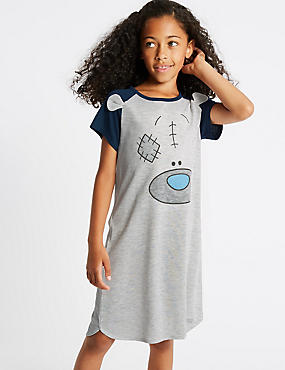 Sparkle Nightdress (3-16 Years), GREY MIX, catlanding