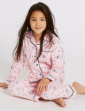 Pure Cotton Pyjamas (3-16 Years), PINK MIX, catlanding