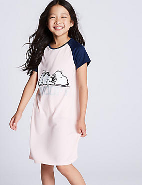 Snoopy™ Nightdress (7-16 Years), PINK MIX, catlanding
