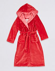 Hooded Dressing Gown with Belt (3-14 Years)