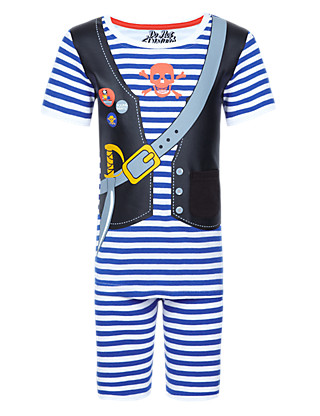 Pure Cotton Pirate Short Pyjamas with Toy (1-7 Years) Clothing