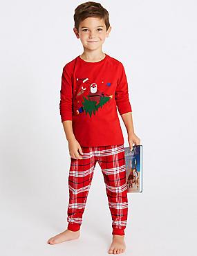 Pure Cotton Pyjamas (1-7 Years), CHILLI, catlanding
