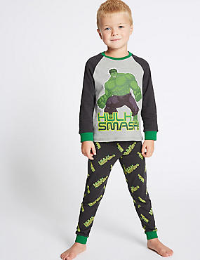 Avengers™ Cotton Pyjamas with Stretch (2-10 Years)