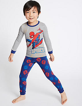 Spider-Man™ Pyjamas with Stretch (2-10 Years), GREY MIX, catlanding