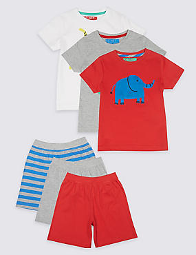 3 Pack Short Pyjamas (1-7 Years)