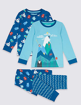 2 Pack Cotton Mountain Pyjamas with Stretch (9 Months - 8 Years)