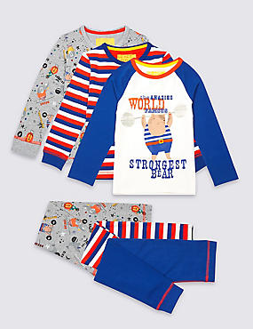3 Pack Printed Pyjamas (9 Months - 8 Years)