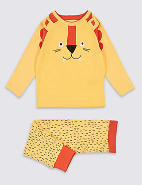 Cotton Rich Lion Print Pyjamas (9 Months - 5 Years)