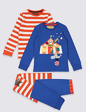 2 Pack Cotton Pyjamas with Stretch (9 Months - 8 Years)