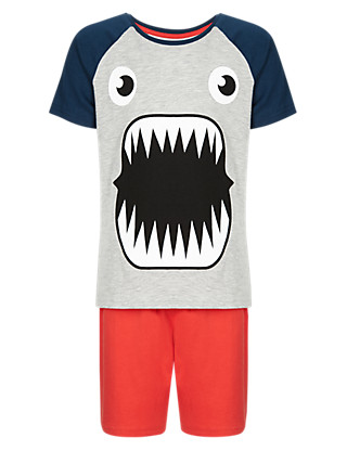 Monster Face Short Pyjamas (1-7 Years) Clothing