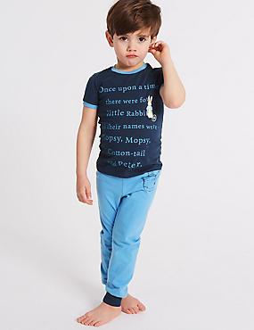 Peter Rabbit™ Pure Cotton Pyjamas (1-6 Years) , BLUE MIX, catlanding