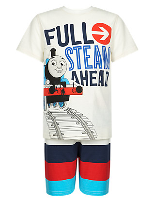 Pure Cotton Thomas & Friends™ Striped Short Pyjamas (1-7 Years) Clothing