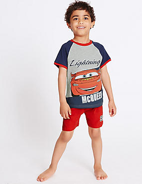 Pure Cotton Disney Car Short Pyjamas (1-7 Years)