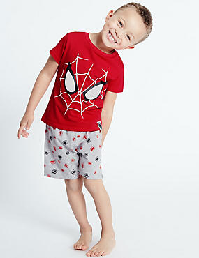Pure Cotton Spider-Man™ Short Pyjamas (2-10 Years)