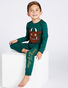 The Gruffalo™ Pyjamas (1 - 8 Years), GREEN MIX, catlanding