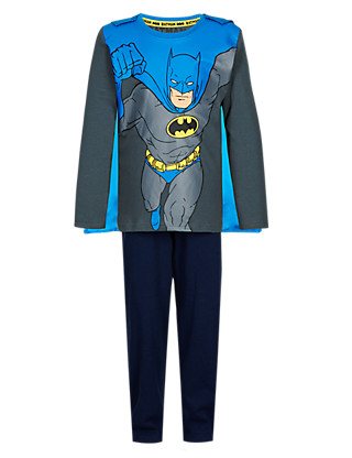 Pure Cotton Batman™ Pyjamas with Cape (1-7 Years) Clothing