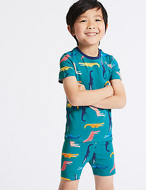 Cotton Printed Short Pyjamas (1-7 Years)