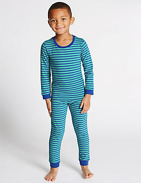 Cotton Rich Striped Pyjamas (6-16 Years)