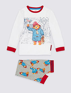 Paddington™ Cotton Rich Pyjamas (9 Months - 7 Years), GREY MIX, catlanding