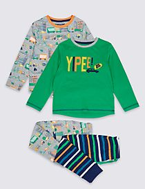 2 Pack Printed Pyjamas (1-7 Years)