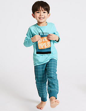 Printed Pure Cotton Pyjamas (1-7 Years)