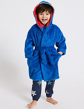 Shark Dressing Gown with Belt (1-8 Years)