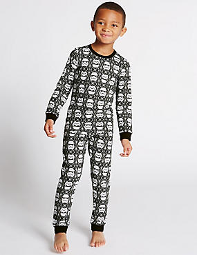Star Wars™ Cotton Rich Long Sleeve Pyjamas (1-16 Years)