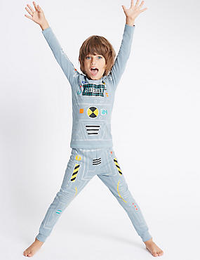 Cotton Rich Robot Suit Pyjamas (1-8 Years)